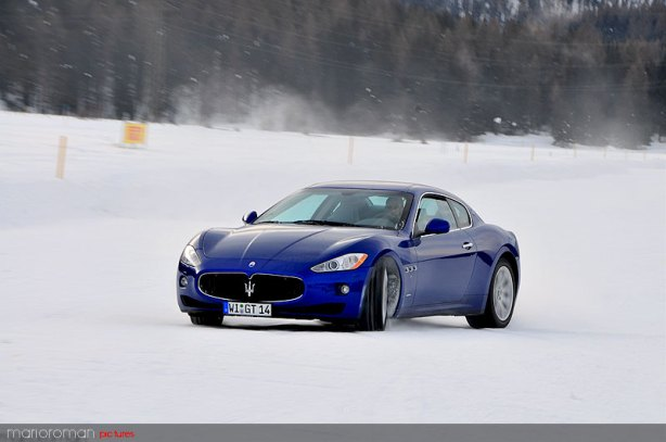 Maserati on snow by marioroman pictures