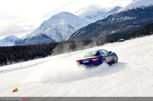 Maserati on snow by marioroman pictures