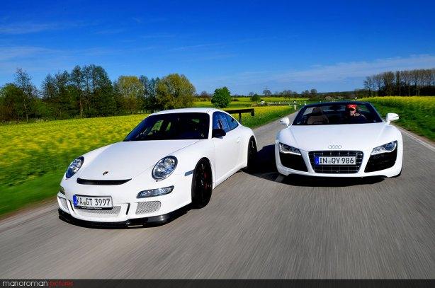 BMW Z4 sDrive35i, Audi R8 V10 Spyder & Porsche GT3cup by marioroman pictures
