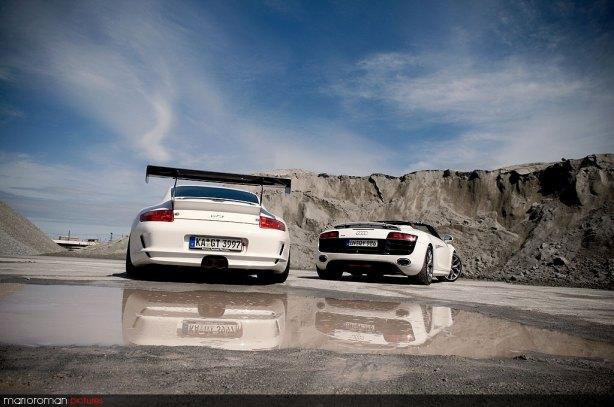 Audi R8 V10 Spyder & Porsche GT3cup by marioroman pictures